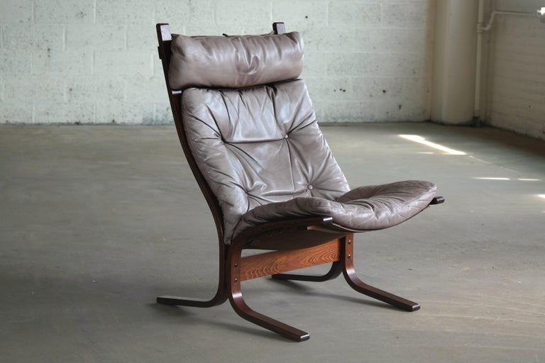 Norwegian 1960s Leather Easy Chairs Model