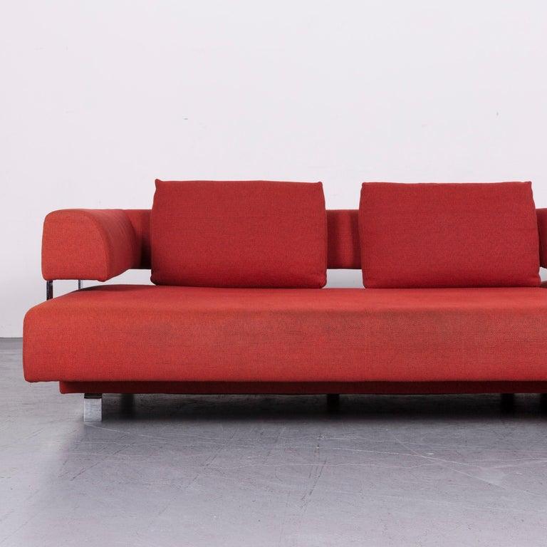 Ewald Schillig Brand Face Designer Sofa Fabric Red Corner Couch
