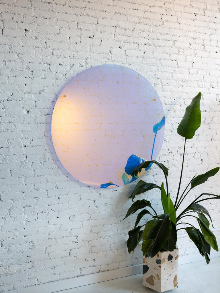 Hand-Crafted Contemporary Floating Stand off Mirror by Fort Standard For Sale