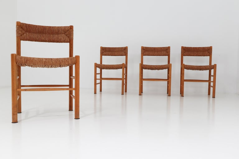 "French Four ""Dordogne"" Chairs by Charlotte Perriand for Robert Sentou For Sale"