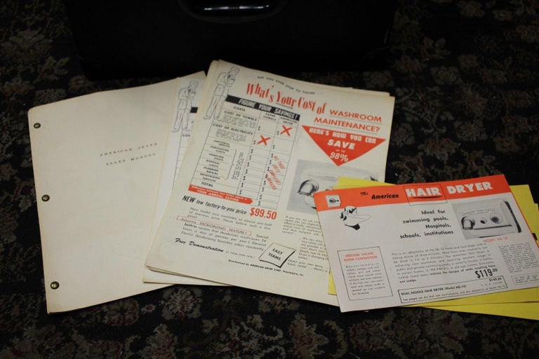 Mid-20th Century 1940s Salesman Sample American Hand Dryer Model SA-10 For Sale