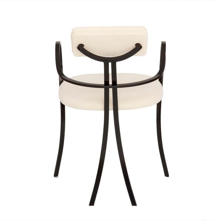 Italian Contemporary Violet Chair with Velvet Seat and Seatback in White Color For Sale