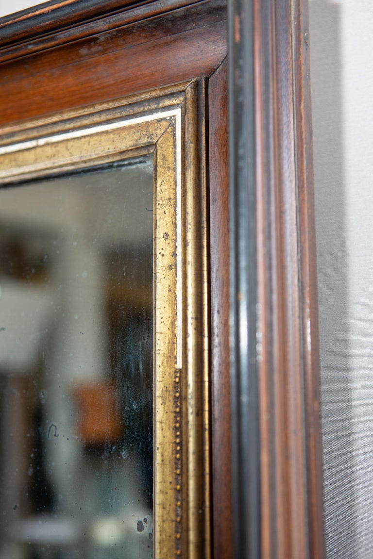 19th Century American Mirror with Antique Glass For Sale 1