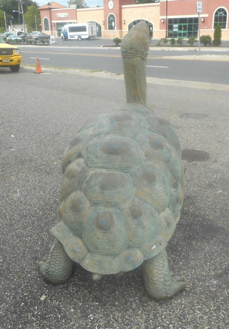 Enormous Bronze Turtle Fountain In Good Condition For Sale In Brooklyn, NY