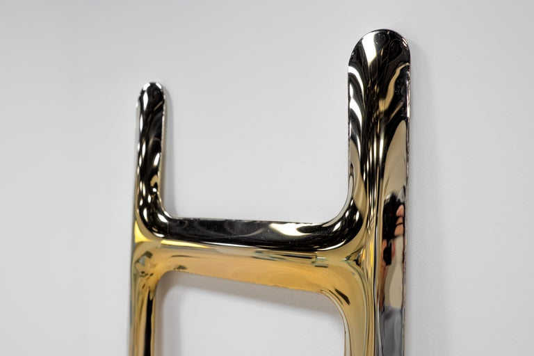 Polished Heat Collection Drab Hanger in Gold Stainless Steel by Zieta For Sale