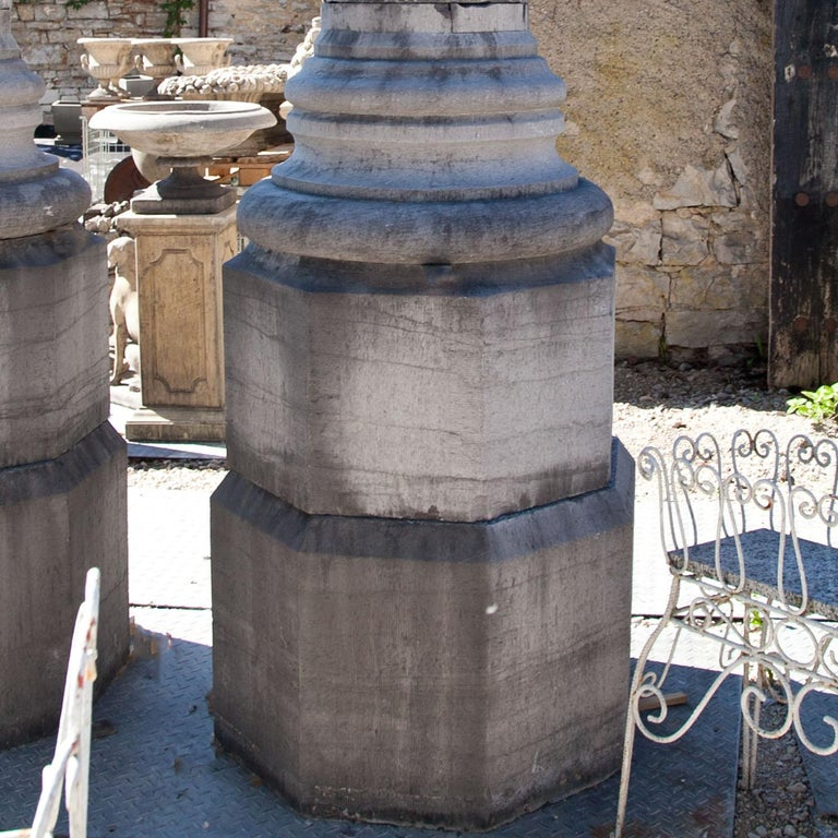 20th Century Monumental Pair of Columns For Sale