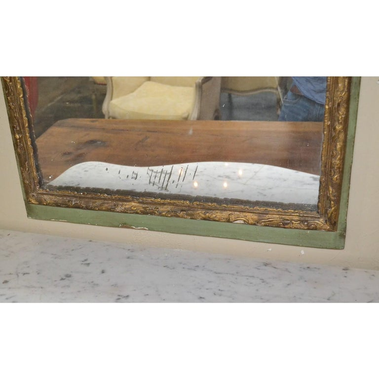 18th Century French Regence Parcel Gilt Mirror In Good Condition For Sale In Dallas, TX