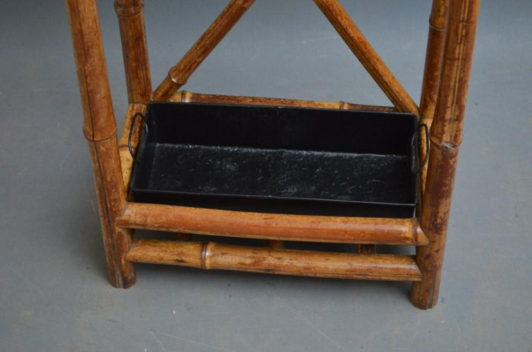 Late Victorian Bamboo Umbrella Stand For Sale At 1stdibs
