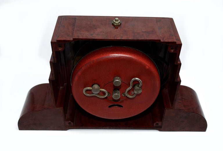 20th Century Art Deco Bakelite Odeon Clock by Blangy For Sale