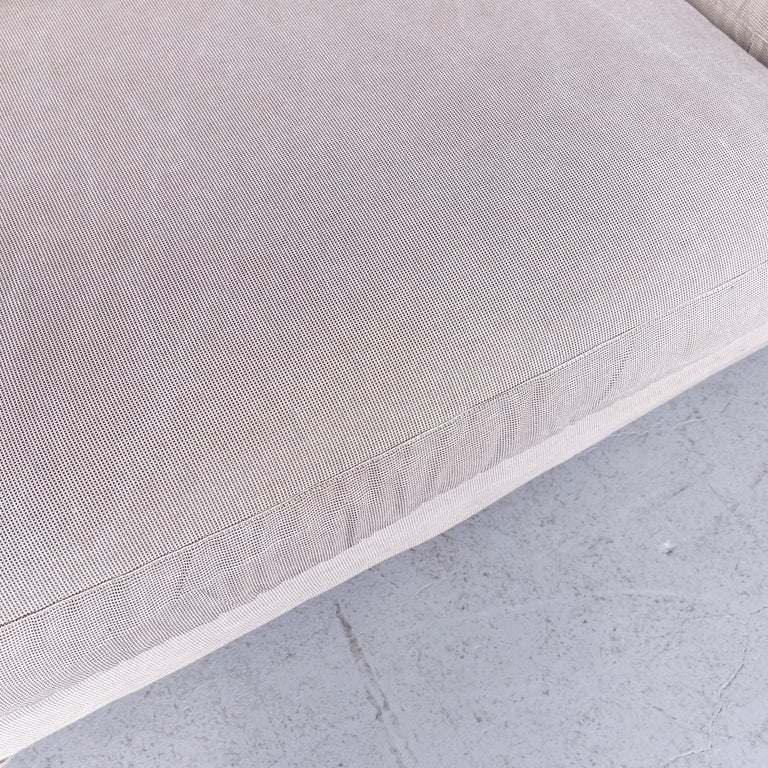 B&B Italia Basiko Fabric Sofa Grey Two-Seat Couch In Good Condition In Cologne, DE