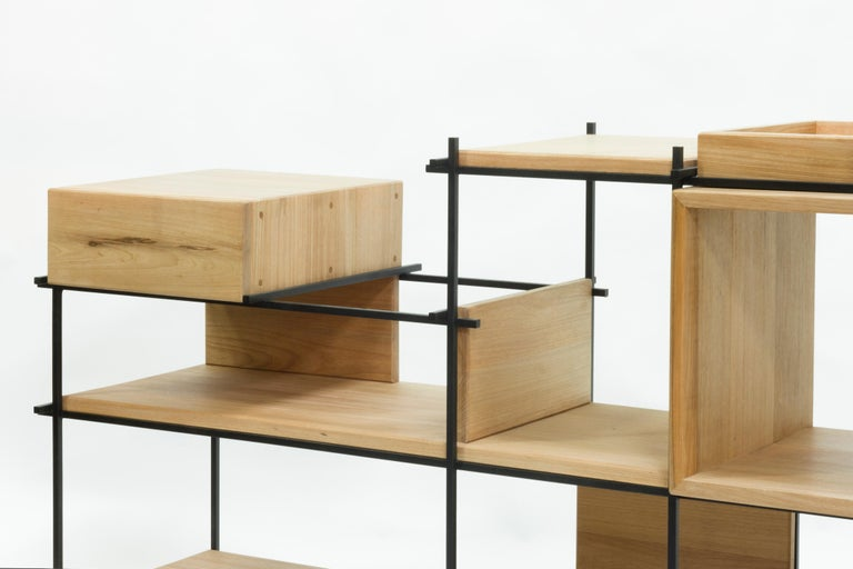 Sideboard in Hardwood and Steel, Brazilian Contemporary Design by O Formigueiro For Sale 2