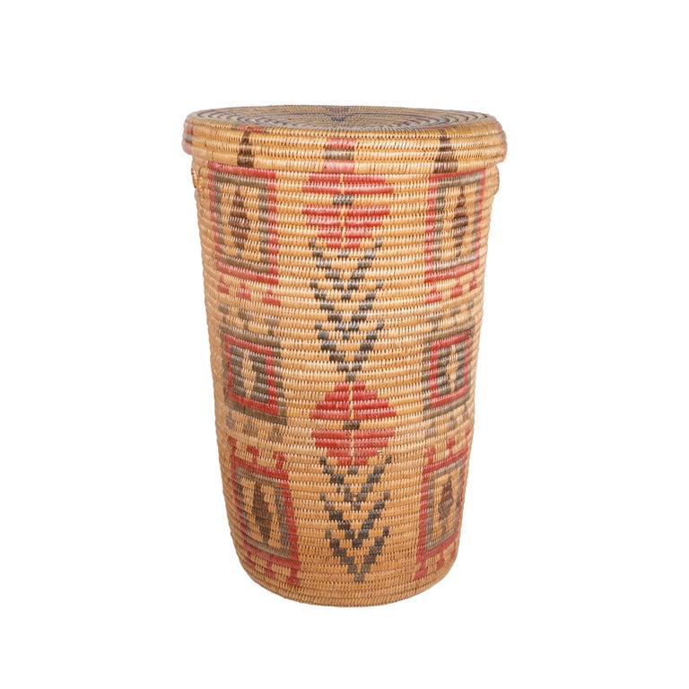 20th Century Jicarilla Apache Lidded Basket For Sale