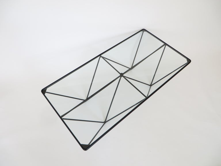 Black Steel and Glass Coffee Table in The Style of Paolo Piva Alanda Table  In Excellent Condition For Sale In Chicago, IL