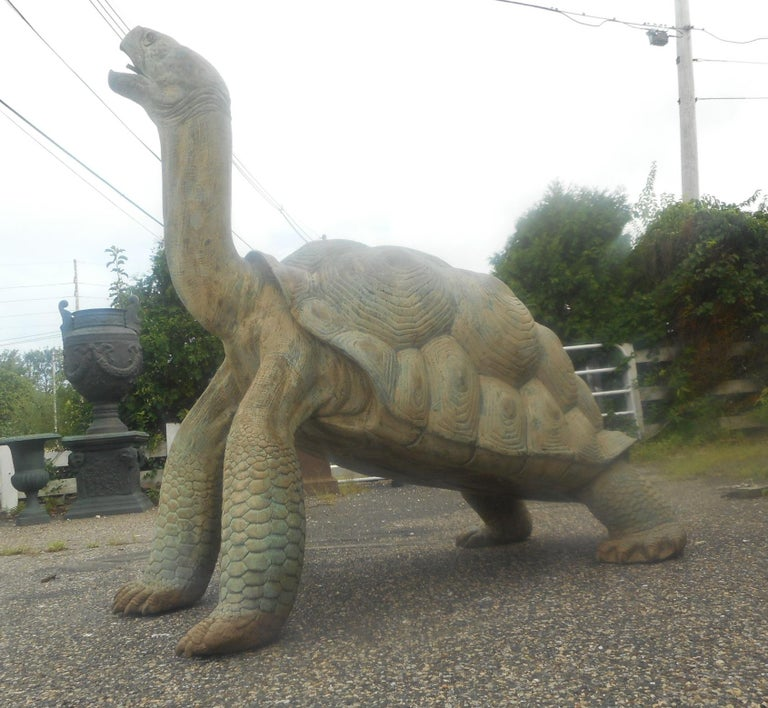 20th Century Enormous Bronze Turtle Fountain For Sale