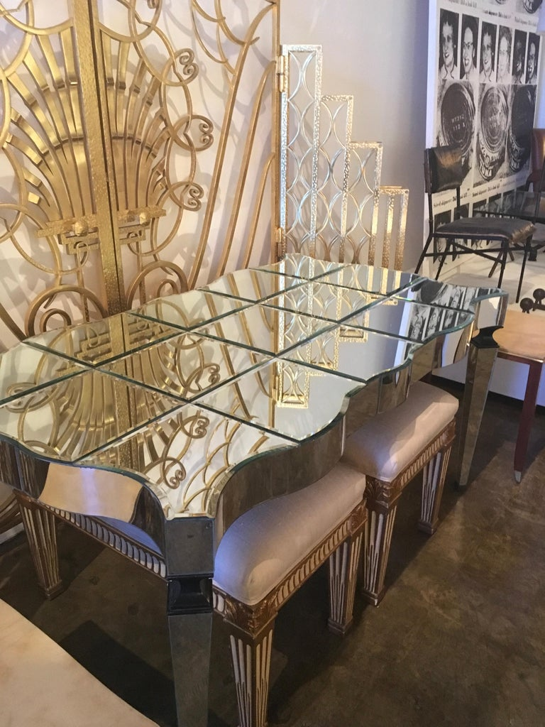 William Haines Mirrored Table Made for Joan Crawford For Sale 1