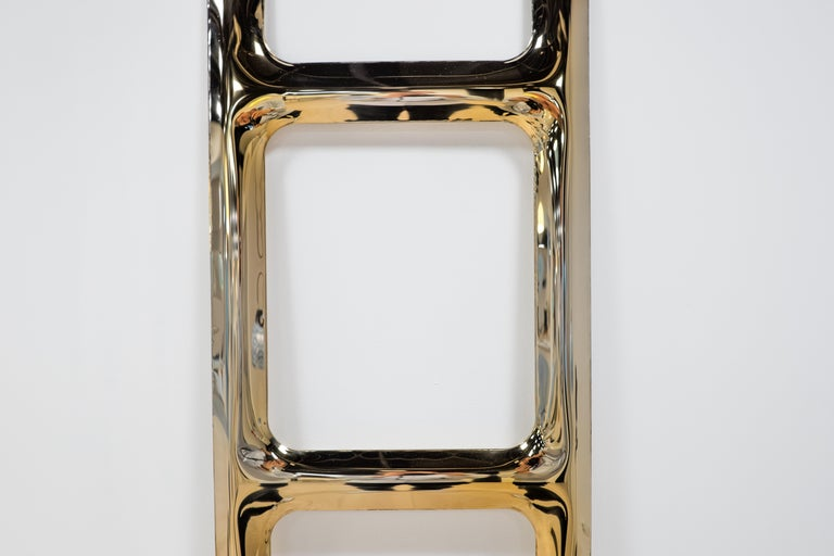 Heat Collection Drab Hanger in Gold Stainless Steel by Zieta In Excellent Condition For Sale In New York, NY