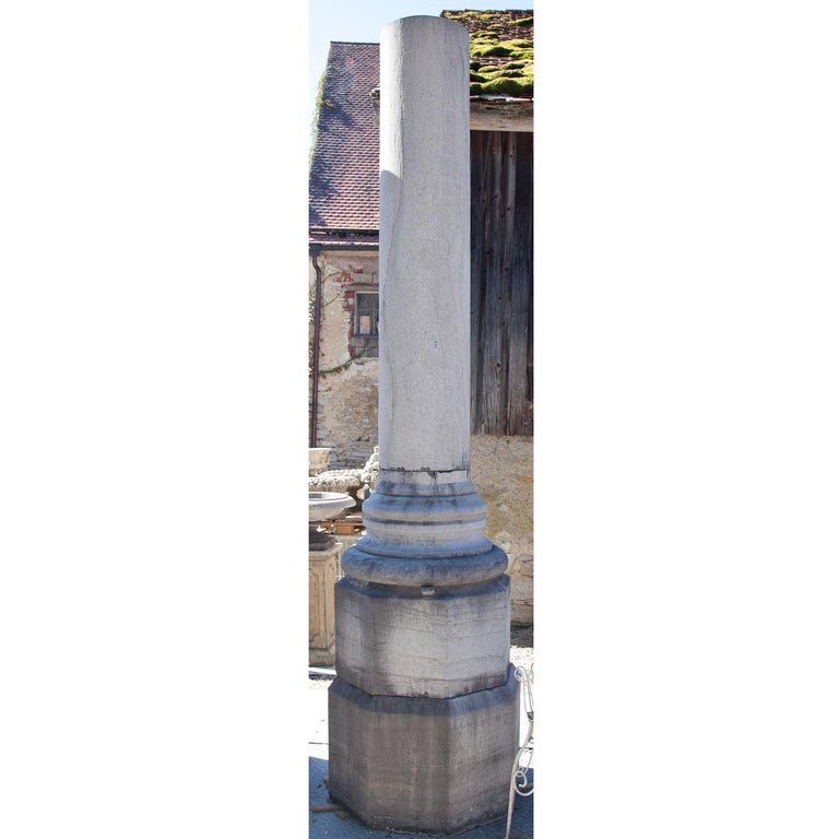 Stoneware Monumental Pair of Columns For Sale