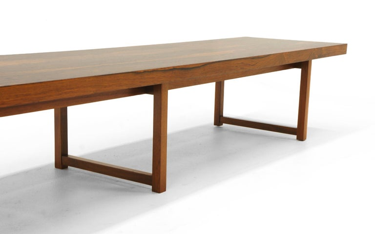 Mid-20th Century Rosewood Bench or Coffee Table by Milo Baughman For Sale