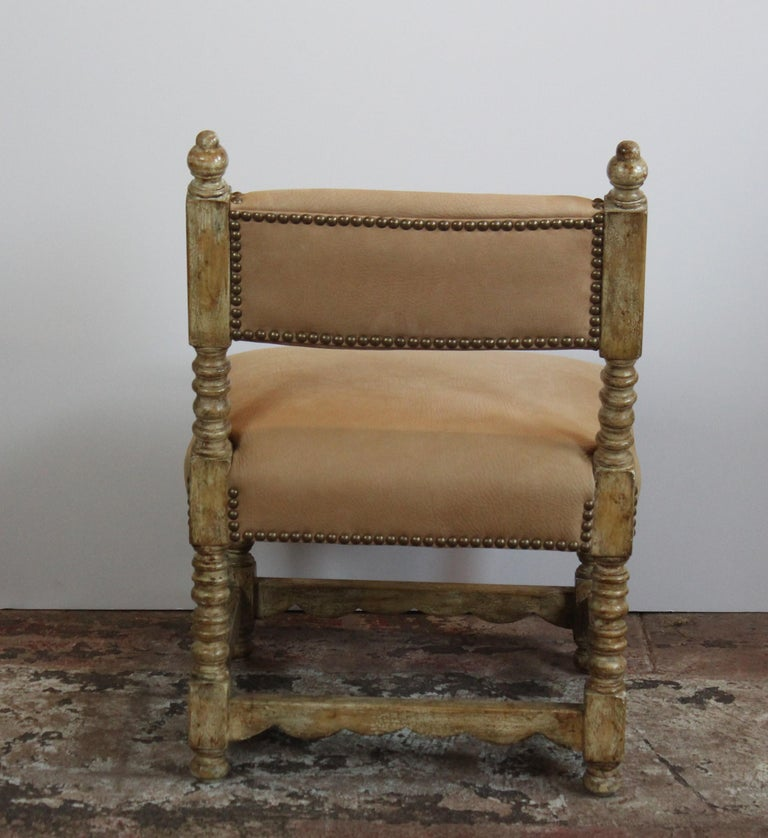 Pair of Spanish Style Chairs For Sale 1