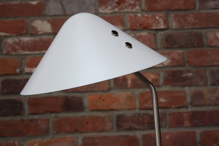 Jørgen Gammelgaard Floor Lamp in Aluminum and Chrome In Excellent Condition For Sale In Brooklyn, NY