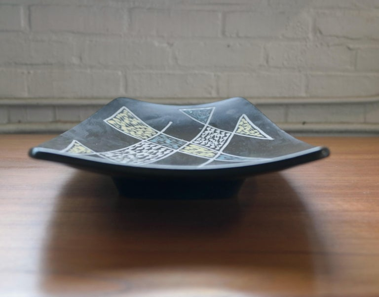 Mid-20th Century 1950s Large Ceramic Plate by Holm Sorensen and Svend Aage Jensen for Soholm