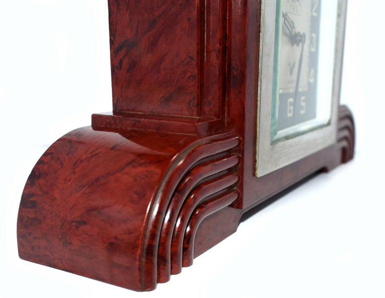 Art Deco Bakelite Odeon Clock by Blangy For Sale 1