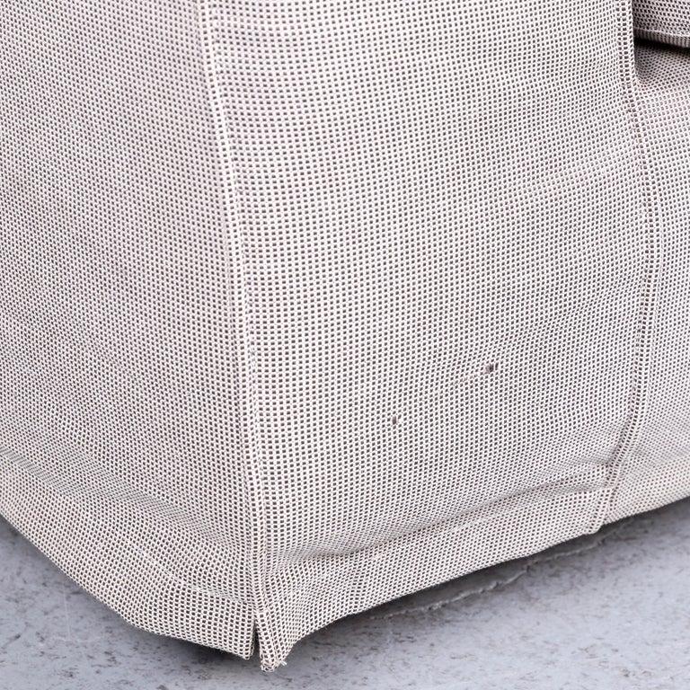 Contemporary B&B Italia Basiko Fabric Sofa Grey Two-Seat Couch