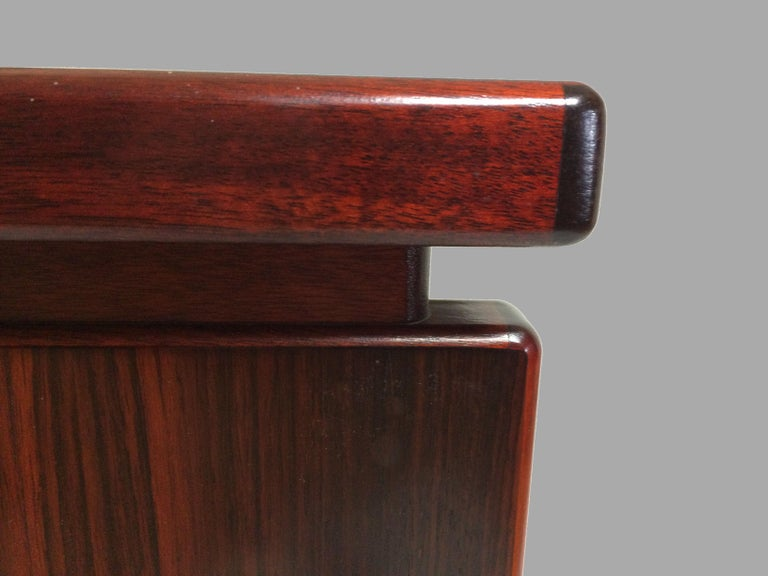 Late 20th Century 1990s Excecutive Desk in Rosewood by Bent Silberg for Bent Silberg Mobler For Sale