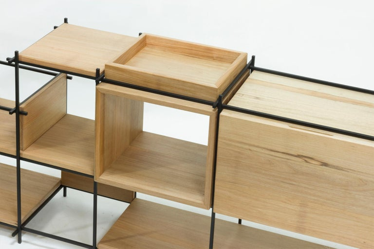 Sideboard in Hardwood and Steel, Brazilian Contemporary Design by O Formigueiro For Sale 3