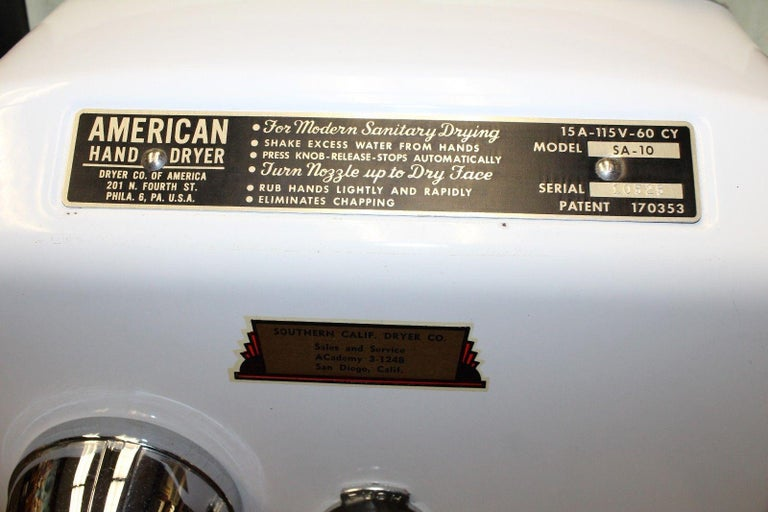 1940s Salesman Sample American Hand Dryer Model SA-10 For Sale 1