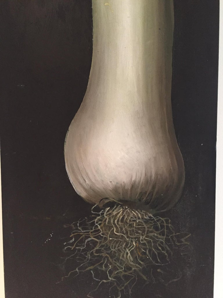 Lester Gaba Scallion Painted on Wood Lilly Dache In Excellent Condition For Sale In Westport, CT
