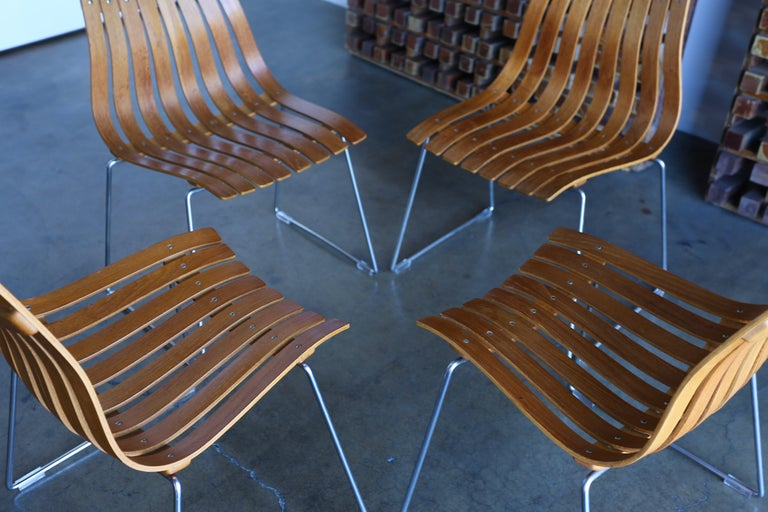 20th Century Hans Brattrud Scandia Dining Chairs for Hove Mobler, Norway For Sale