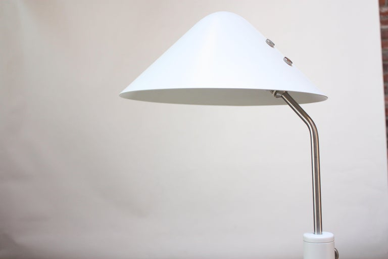 Late 20th Century Jørgen Gammelgaard Floor Lamp in Aluminum and Chrome For Sale