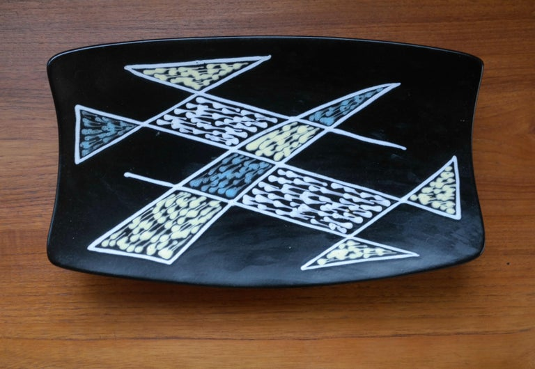 1950s Large Ceramic Plate by Holm Sorensen and Svend Aage Jensen for Soholm 1