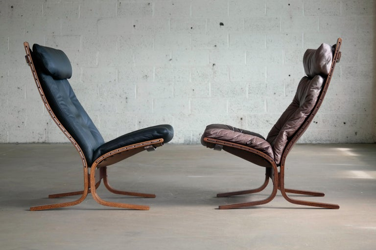 Pair of Leather Easy Chairs Model