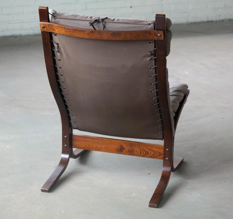 Canvas 1960s Leather Easy Chairs Model