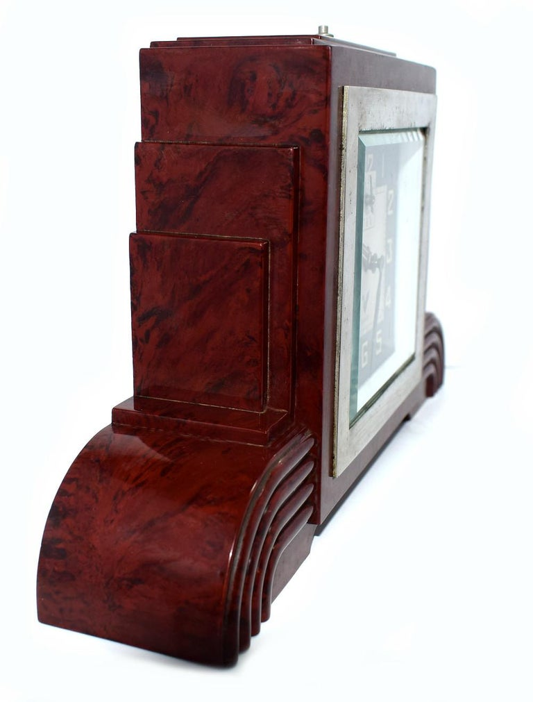 Art Deco Bakelite Odeon Clock by Blangy For Sale 2
