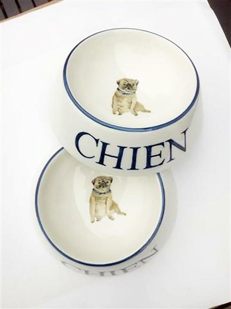 Modern Dog Bowl Porcelain Handpainted Customized Sofina Boutique Kitzbuehel For Sale 1