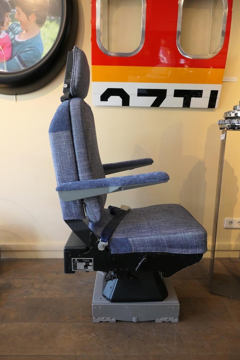 Steel Operator Airplane Seat Built by Sogerma from a Douglas DC-8 For Sale