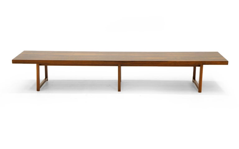Rosewood Bench or Coffee Table by Milo Baughman For Sale 2