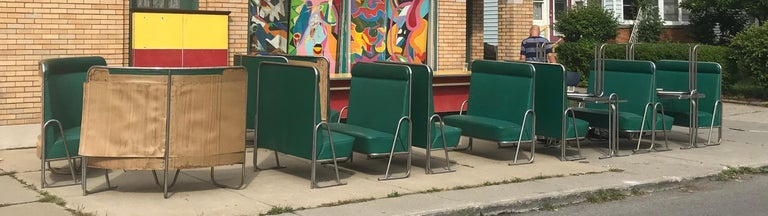 Original Art Deco Diner, Seats 40 Designed by Wolfgang Hoffmann for Howell 1930s For Sale 2