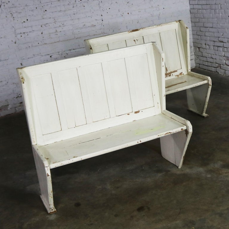 Superb Rustic Arts And Crafts Black And White Diner Booth Banquette Table And Benches Machost Co Dining Chair Design Ideas Machostcouk