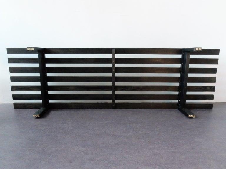 Black BZ82 Slat Bench with Sliding Shelf by Martin Visser for 'T Spectrum, 1960s For Sale 1