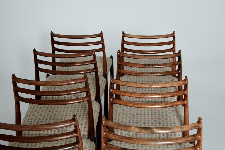Set of Eight Model 78 Rosewood Chairs by Niels O. Møller, Denmark, 1960s For Sale 2