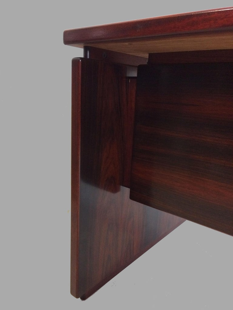 1990s Excecutive Desk in Rosewood by Bent Silberg for Bent Silberg Mobler For Sale 2