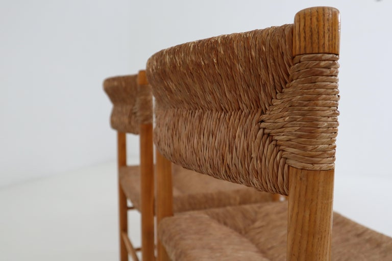 "Four ""Dordogne"" Chairs by Charlotte Perriand for Robert Sentou For Sale 1"