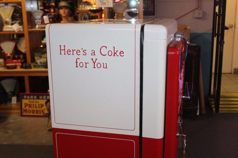 1950s Coca-Cola Westinghouse Model 42 Vending Machine For Sale 1