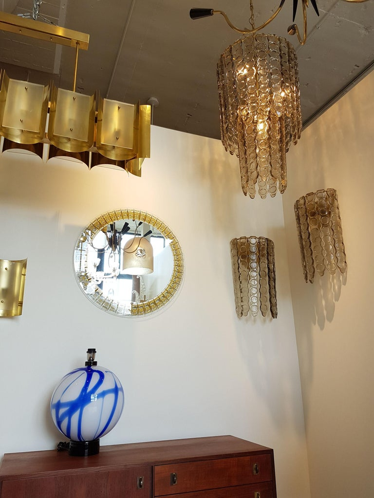 Pair of Murano Smoked Glass Sconces, Mazzega Style, Mid-Century Modern, 1970s For Sale 1