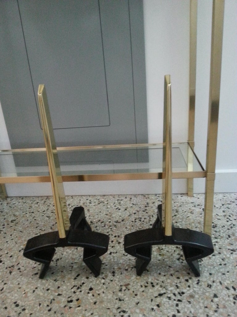Brass Andirons For Sale 1