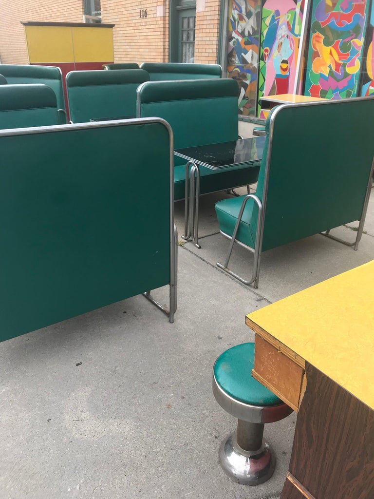 Original Art Deco Diner, Seats 40 Designed by Wolfgang Hoffmann for Howell 1930s For Sale 3